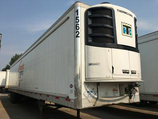2017 Utility 53' T/A Refrigerated Van Trailer c/w Thermo King Reefer, Air Ride, Sliding Axle, Unit # 1562, VIN 1UYVS2531H2950013.