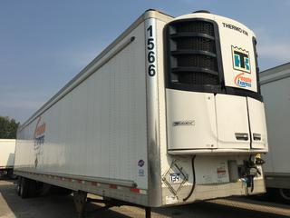 2017 Utility 53' T/A Refrigerated Van Trailer c/w Thermo King Reefer, Air Ride, Sliding Axle, Unit # 1566, VIN 1UYVS2539H2950020.