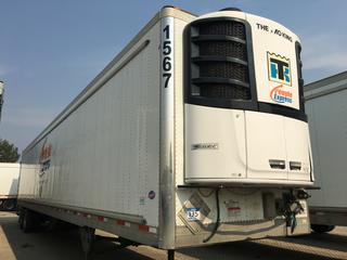 2017 Utility 53' T/A Refrigerated Van Trailer c/w Thermo King Reefer, Air Ride, Sliding Axle, Unit # 1567, VIN 1UYVS2530H2950021.