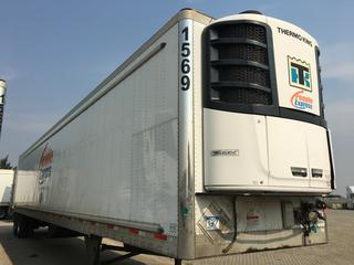 2017 Utility 53' T/A Refrigerated Van Trailer c/w Thermo King Reefer, Air Ride, Sliding Axle, Unit # 1569, VIN 1UYVS2536H2950010.