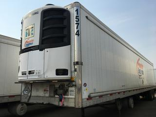 2017 Utility 53' T/A Refrigerated Van Trailer c/w Thermo King Reefer, Air Ride, Sliding Axle, Unit # 1574, VIN 1UYVS2537H2950016.