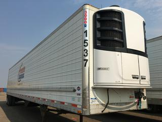 2016 Utility 53' T/A A/R 67614 Refrigerated Van Trailer c/w Thermo King Reefer, Air Ride, Sliding Axle, Unit # 1537, VIN 1UYVS2538GU621411, Reefer S/N 6001197038 Hours 18520.