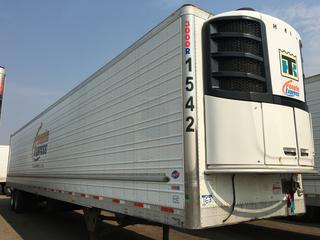 2016 Utility 53' T/A A/R 67619 Refrigerated Van Trailer c/w Thermo King Reefer, Air Ride, Sliding Axle, Unit # 1542, VIN 1UYVS2537GU621416.