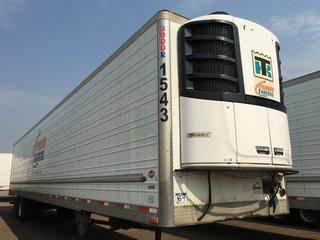 2016 Utility 53' T/A Refrigerated Van Trailer c/w Thermo King Reefer, Air Ride, Sliding Axle, Unit # 1543, VIN 1UYVS2539GU621417.