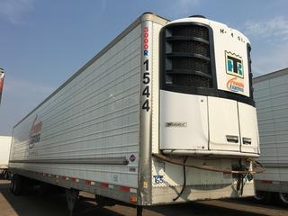 2016 Utility 53' T/A Refrigerated Van Trailer c/w Thermo King Reefer, Air Ride, Sliding Axle, Unit # 1544, VIN 1UYVS2530GU621418 Reefer S/N 6001197058 Hours 26903.
