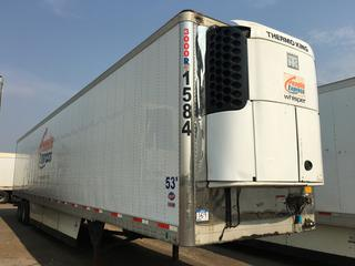 2016 Utility T/A Refrigerated Van Trailer c/w Thermo King Reefer, Air Ride, Sliding Axle, Unit # 1584, VIN 1UYVS2535GM380911, Reefer S/N 6001181936 Hours 19,973