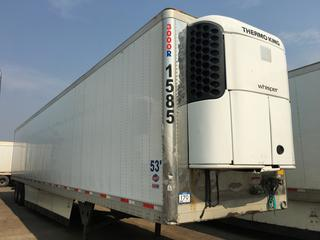 2016 Utility 53' T/A Refrigerated Van Trailer c/w Thermo King Reefer, Unit # 1585, VIN 1UYVS2537GM380912.