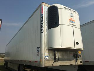 2016 Utility 53' T/A Refrigerated Van Trailer c/w Thermo King Reefer, Unit # 1589, VIN 1UYVS2538GM380921.