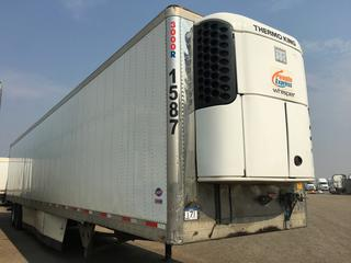 2016 Utility 53' T/A Refrigerated Van Trailer c/w Thermo King Reefer, Unit # 1587, VIN 1UYVS2538GM380918. Hours Showing 22759.