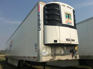 2016 Utility 53' T/A Refrigerated Van Trailer c/w Thermo King Reefer, Unit # 1593, VIN 1UYVS2531GM380906.