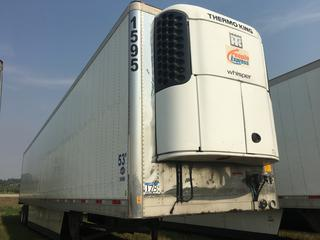2016 Utility 53' T/A Refrigerated Van Trailer c/w Thermo King Reefer, Unit # 1595, VIN 1UYVS2539GM380913.