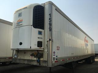 2009 Utility Triaxle Refrigerated Van Trailer c/w Thermo King Reefer, Air Ride, Sliding Axle, Unit # 1599, VIN 1UYVS35389U645717.