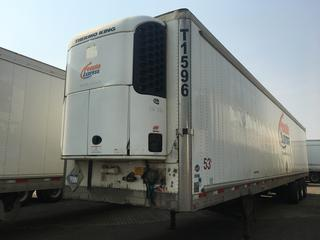 2009 Utility 53' Triaxle Refrigerated Van Trailer c/w Thermo King Reefer, Air Ride, Sliding Axle, Unit # T1596, VIN 1UYVS35329U778702.