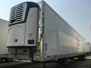 2018 Utility T/A VS2RA Refrigerated Van Trailer c/w Carrier Reefer, Air Ride, Sliding Axle, Unit # 15142, VIN 1UYVS2538J6046318.