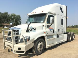 2017 Freightliner Cascadia T/A Truck Tractor c/w Detroit DD15 14.8L Engine, Detroit Auto Transmission, Air Brakes, Front Axle Rating 13,200 Lbs, Rear Axle Rating 40,000 Lbs, Sleeper Cab, Showing 1,315,821 KMS, Unit # 51136, VIN 3AKJGLDRXHSJC3222.