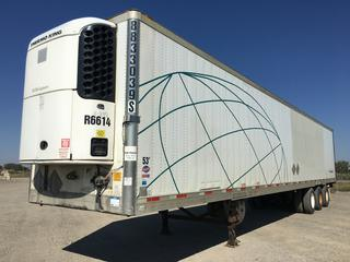 2008 Utility 53' Triaxle Refrigerated Van Trailer c/w Thermo King Reefer Showing 26389 Hours, Air Ride, Sliding Axle, Unit # 8833039S, VIN 1UYVS35328U401205 Reefer S/N 6001017968.