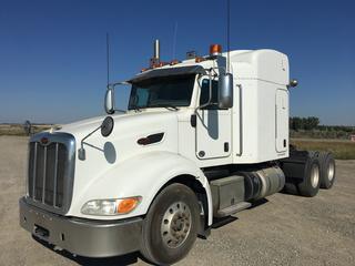 2012 Peterbilt 386 T/A Truck Tractor c/w  Cummins ISX 450 HP, Eaton-Fuller 18 Speed, A/R, 12,000 LB Front, 40,000 LB Rear Axles, Showing 505,556 Miles, 7309 Hrs., VIN 1XPHD49X8CD158709.
