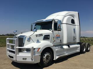 2019 Western Star 5700 XE T/A Truck Tractor c/w  Detroit DD15 14.8L Engine, Detroit Auto Transmission, Air Brakes, Front Axle Rating 13,200 Lbs, Rear Axle Rating 40,000 Lbs, Showing 617,911 KMS, Unit # 51205, VIN 5KJJBHDR1KLKU5724.