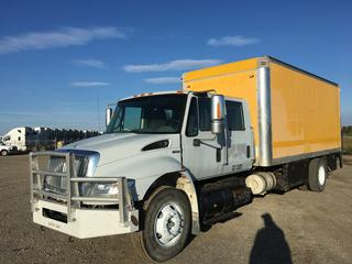 2008 International 4400 SBA Crew Cab Service Truck c/w Maxxforce 7.6L, Allison Auto, A/C, Air Compressor, (3) Tool Storage Cabinets w/Shelves, Multi Stage Battery Charger, Wall Mounted Heater, (5) Exterior Storage Compartments, Tailgate Lift, Roll Up Door, Side Door, Air Brakes, Showing 590,679 Kms, VIN 3HTMKAALX8N689013.
