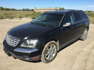 2005 Chrysler Pacifica Touring AWD Cross Over SUV c/w 3.5L V8, Auto, A/C, Sunroof, Heated Seats, Showing 174,521 Kms, VIN 2C8GF68445R666958