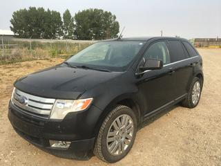 2009 Ford Edge Limited AWD SUV c/w 3.5L V6, Auto, A/C, Heated Seats, Moor Roof, Tow Hitch Receiver, Showing 251,946 Kms, VIN 2FMDK49C19BA42877.