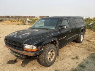2000 Dodge Dakota Sport Club Cab 4x4 P/U c/w 4.7L V8, Auto, A/C, Showing 253,645 Kms. VIN 1B7GG22N8YS734917