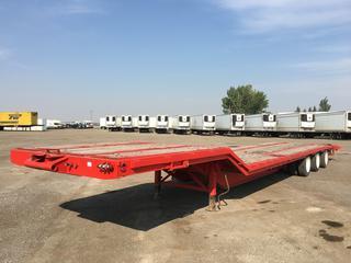 1990 Rotec 9'x 53' Triaxle Air Tilt Deck Trailer c/w 33' Working Deck, 10' Upper Deck, 5' Folding Beavertail, 255/70/22.5 Tires, VIN 2R9MD5338LN039442