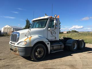 2005 Freightliner Columbia 120 T/A Truck Tractor c/w Detoit Series 60, Eaton Fuller 10 Spd, Day Cab, 11R22.5 Tires, Showing 783,580 Kms, VIN 1FUJA6CK35LV22508