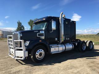 2013 Freightliner Coronado T/A Truck Tractors c/w DD15 14.8L, Eaton Fuller 18 Spd, 13,200 LB Front, 46,000 LB Rear Axles, Air Ride Susp., 11R24.5 Tires, Showing 698039 KMS, VIN 1FUJGNDRXDDFD6157.