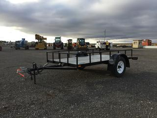 Custombuilt 8' S/A Utility Trailer c/w ST175/80R13 Tires. No Serial Number Available.