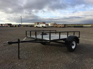 """Cusotmbuilt 5'4"""" S/A Utility Trailer c/w Pin Hitch, 5.70/5.00-8 Tires. No Serial Number Available."""