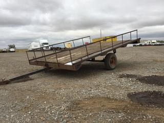 8' S/A Utility Trailer c/w 4.80-8 Tires. No Serial Number Available.