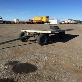 15' S/A Farm Wagon c/w 7.75-15 TIres. Note: Deck No Attached To Frame. No Serial Number Available.
