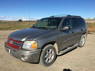 2003 GMC Envoy SLE 4x4 SUV c/w 4.2L, Auto, A/C, Showing 304,978 Kms, VIN 1GKDT13S232205912
