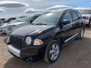 2007 Jeep Compress Limited 4x4 SUV c/w 2.4L 4 Cyl, A/C, Showing 222,583 Kms, VIN 1J8FF57W27D377294