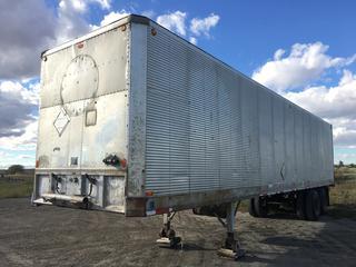 Fruehauf 40' T/A Van Trailer c/w Roll Up Door, Side Door, 10:00R20 Tires, VIN DXG412509