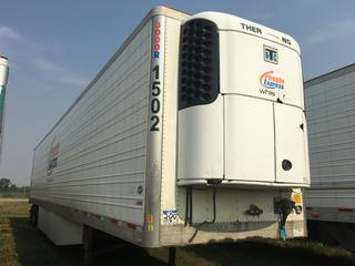 2013 Utility 53' T/A Refrigerated Van Trailer c/w Thermo King Reefer, Air Ride, Sliding Axle, Unit # 1502, VIN 1UYVS2531DU627918.