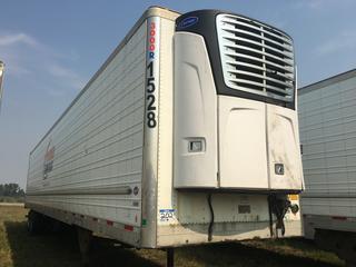 2013 Utility 53' T/A Refrigerated Van Trailer c/w Carrier Reefer, Air Ride, Sliding Axle, Unit # 1528, VIN 1UYVS2538DU725022.