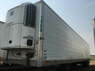 2004 Utility 53' T/A Refrigerated Van Trailer c/w Thermo King Reefer, Air Ride, Sliding Axle, Unit # 1509, VIN 1UYVS25314U263306.