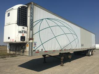 2007 Utility 53' T/A Refrigerated Van Trailer c/w Thermo King Reefer Showing 31834 Hours, Air Ride, Sliding Axle, CR3210696, VIN 1UYVS35337U178106.