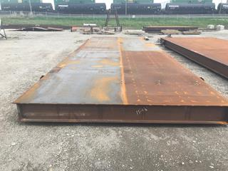 Selling Off-Site - One (1) New 5' x 20' Engineered Heavy Duty Oilfield Skid Located in Stettler, AB.