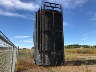 """Selling Off Site - 2011 12' x 20' Outlaw Welding """"L"""" Skidded Insulated 400 BBL Production Tank with Envirovault Heating Enclosure. API 12F, 16 oz design pressure 1/4"""" Floor, 3/8"""" Shell and deck, gauge board, 24"""" x 36"""" square manway, S/N 708,  Located Near Cottonwood Rd. & 42nd Ave. in Innisfail, Buyer Responsible for Load Out."""