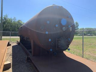 """Selling Off-Site - New 8' x 30' 75 PSI @350F, CA 1/16"""" Horizontal Heated Sweet Service, 3 Phase Free Water Knock Out - RT2, Registered in AB, BC, SK, 2.5MMBTU/HR Firetube w/burner and Flame Arrestor, Heavy Duty, Winchable Oilfield Skid with Lift lugs Located in Stettler, AB"""