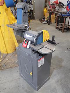 Magnum Industrial MI-163005 1 1/2hp 110/220V Single Phase Heavy Duty 5 3/4in Belt And 12in Disc Sander. SN 16150620