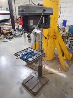 2020 Magnum Industrial MI-76450 Single Phase 110/220V Drill Press C/w 4in Vise And 1hp Induction Motor. SN 76274620