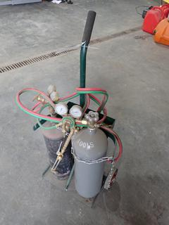 Oxy/Acetylene Cutting Torch Assembly C/w Regulators, Hose And Cutter