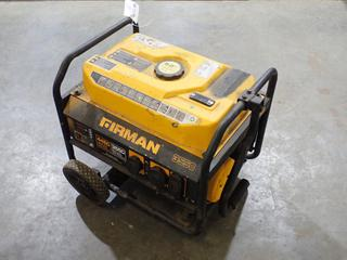 2018 Firman P03501 Portable Gas Generator w/ 3550 Running Watts And 4450 Starting Watts. Showing 51hrs. SN 4814300592