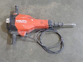 Hilti TE 2000-AVR 120V Concrete Breaker. SN 010707