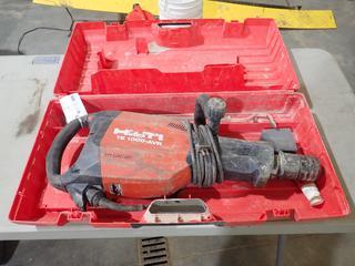 Hilti TE 1000-AVR 120V Concrete Breaker. SN 081902