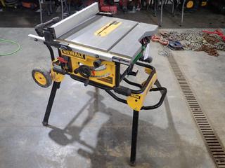 Dewalt DWE7491 10in 120V Portable Table Saw. SN 009715